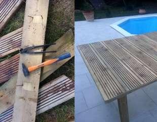 Fabrication d'une table de jardin avec du bois de récupération
